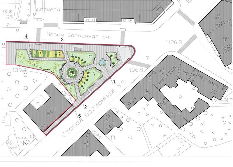 Проект реконструкции сквера на площади Разгуляй. Рисунок 9