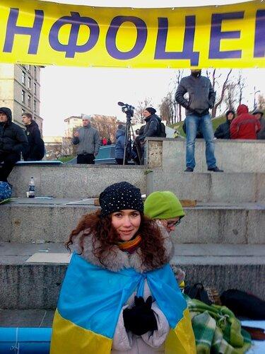 Работница инфоцентра Евромайдана