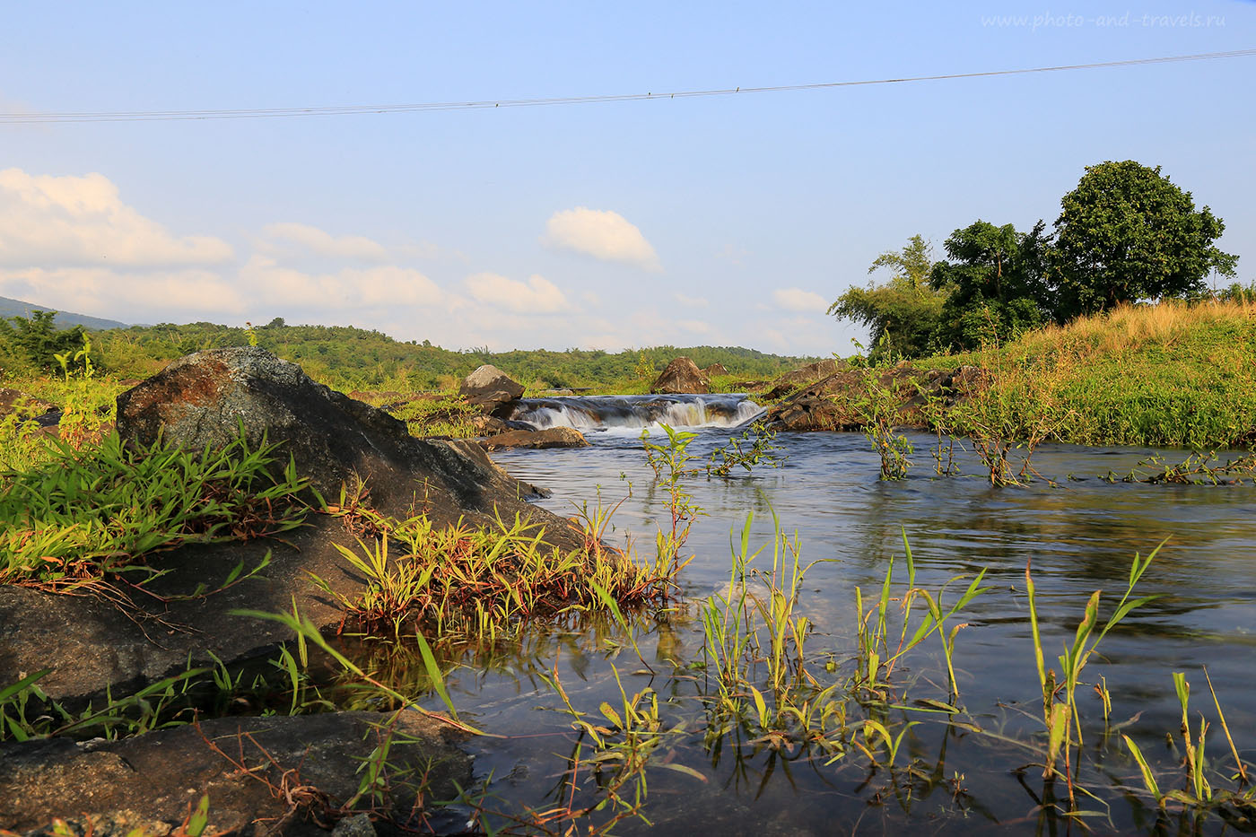 Фото 23. Перекат на Chapoli Dam. Самостоятельный тур в Индию. Экскурсии во время отдыха на Гоа (24-70, 1/13, 0eV, f22, 24mm, ISO 100, фильтр – ND-4)