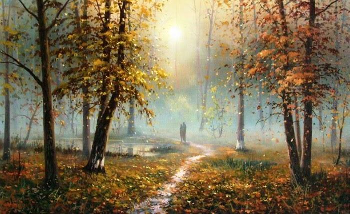 Хоровод осенних поцелуев, С крон сорвавшейся листвы... Slobodan Trpevski