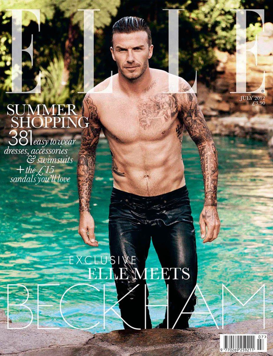 David Beckham / Дэвид Бекхэм в журнале ELLE UK, июль 2012 / фотограф Doug Inglish