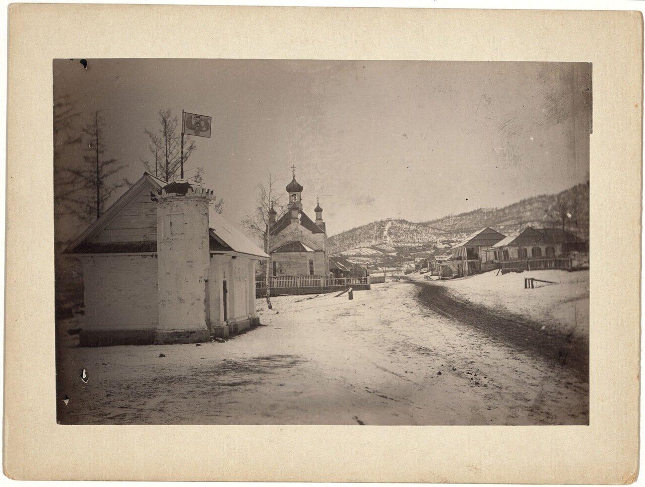 Вид села под Иркутском.