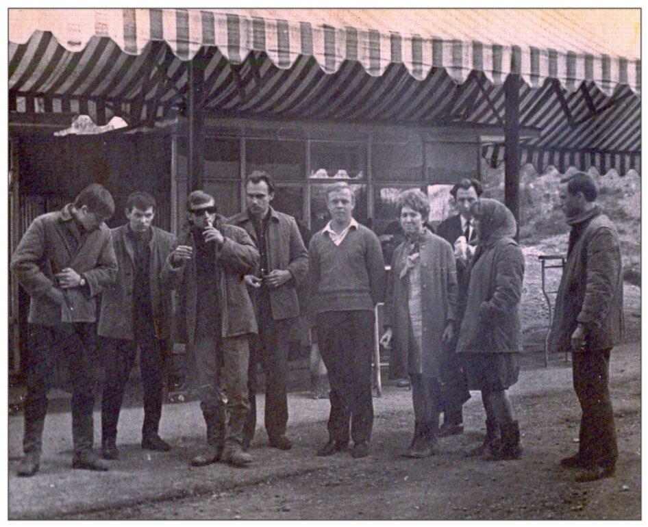 1970. Лето. Во время Всесоюзного агитпохода студенческой молодежи по комсомольским стройкам Северного Урала.