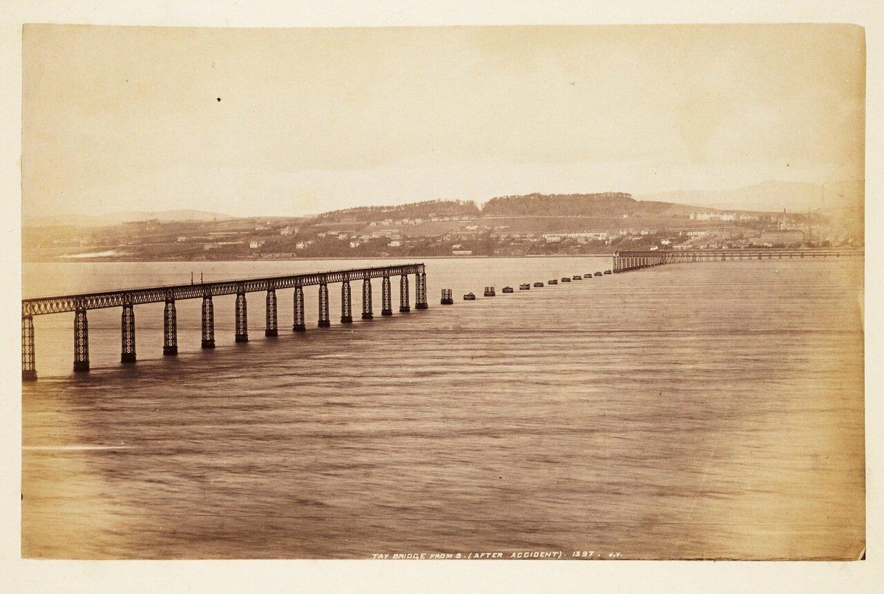Фотография моста после катастрофы