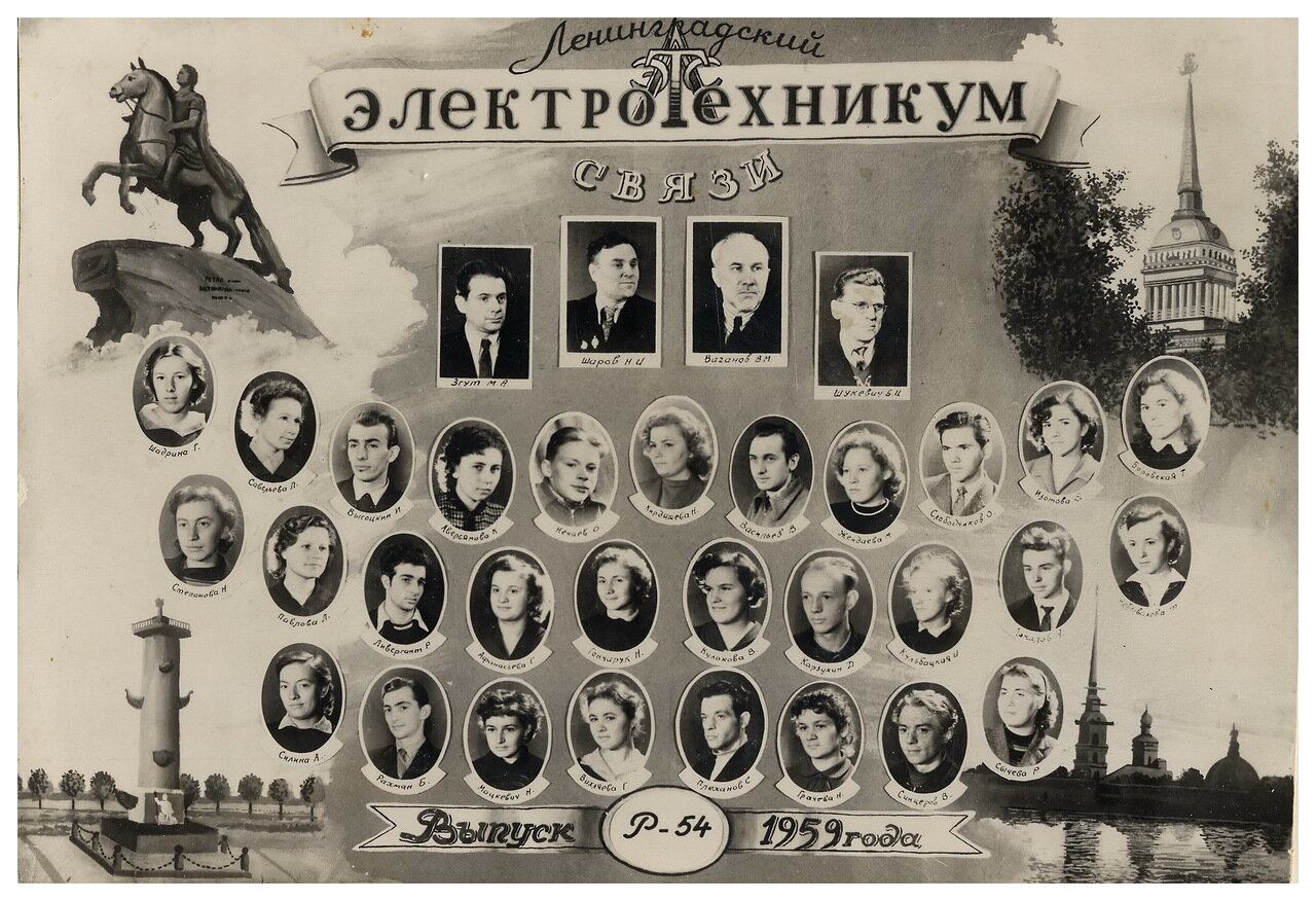 1959. Ленинградский электротехникум связи