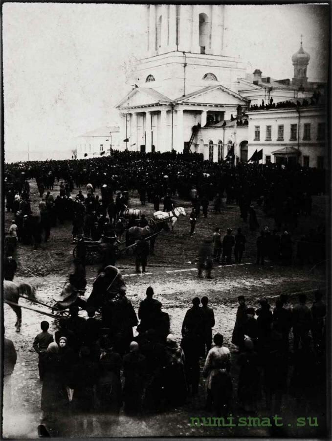 Митинг у Кафедрального собора по поводу манифеста 17.10.1905 г.