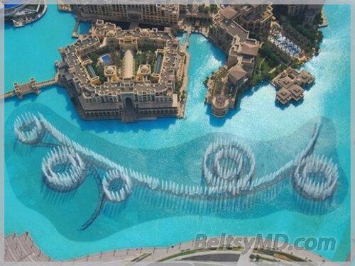 Самый большой музыкальный фонтан в мире — Дубай