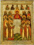 Богоматерь Знамение с деисусом и избранными святыми
