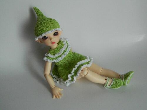 Комплект одежды для ЛиттлФи 26 см (платье, колпачок, туфли) - 500 руб