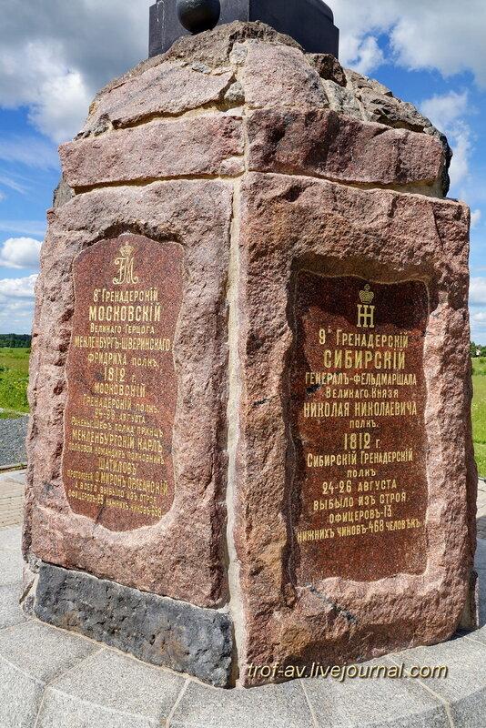 Памятник 2-й гренадерской дивизии генерала К. Мекленбургского и сводно-гренадерской дивизии генерала М.С. Воронцова