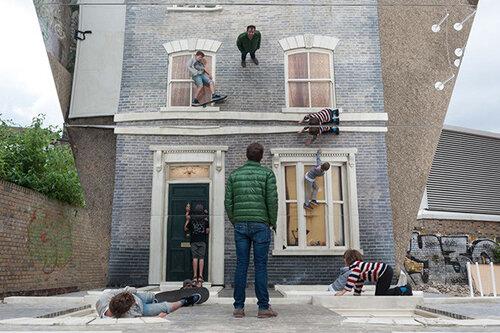 Необычный дом - иллюзия