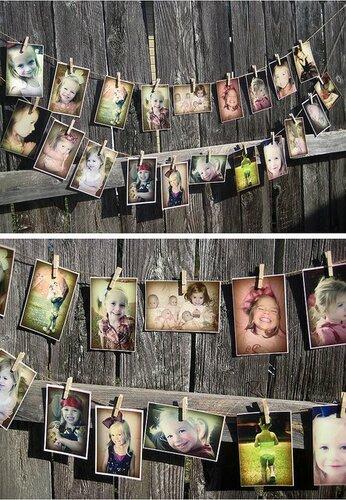 Оформление стен фотографиями