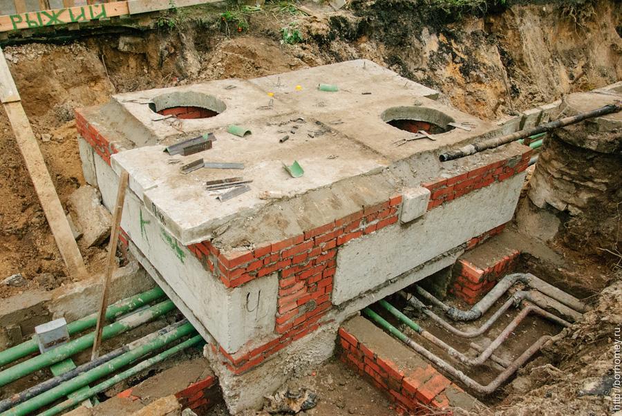 канализационный люк в разрезе
