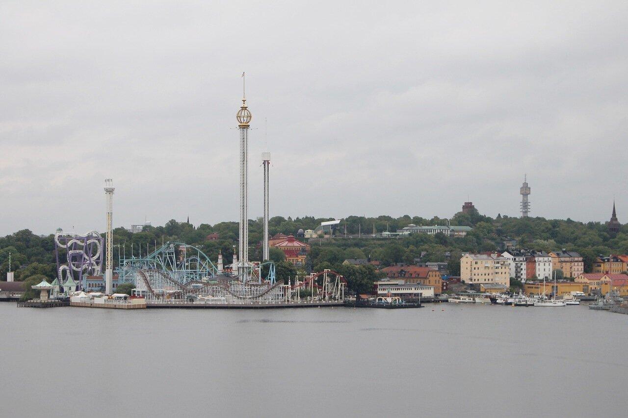 Stockholm. Стокгольм. Gröna Lund Tivoly. Парк развлечений