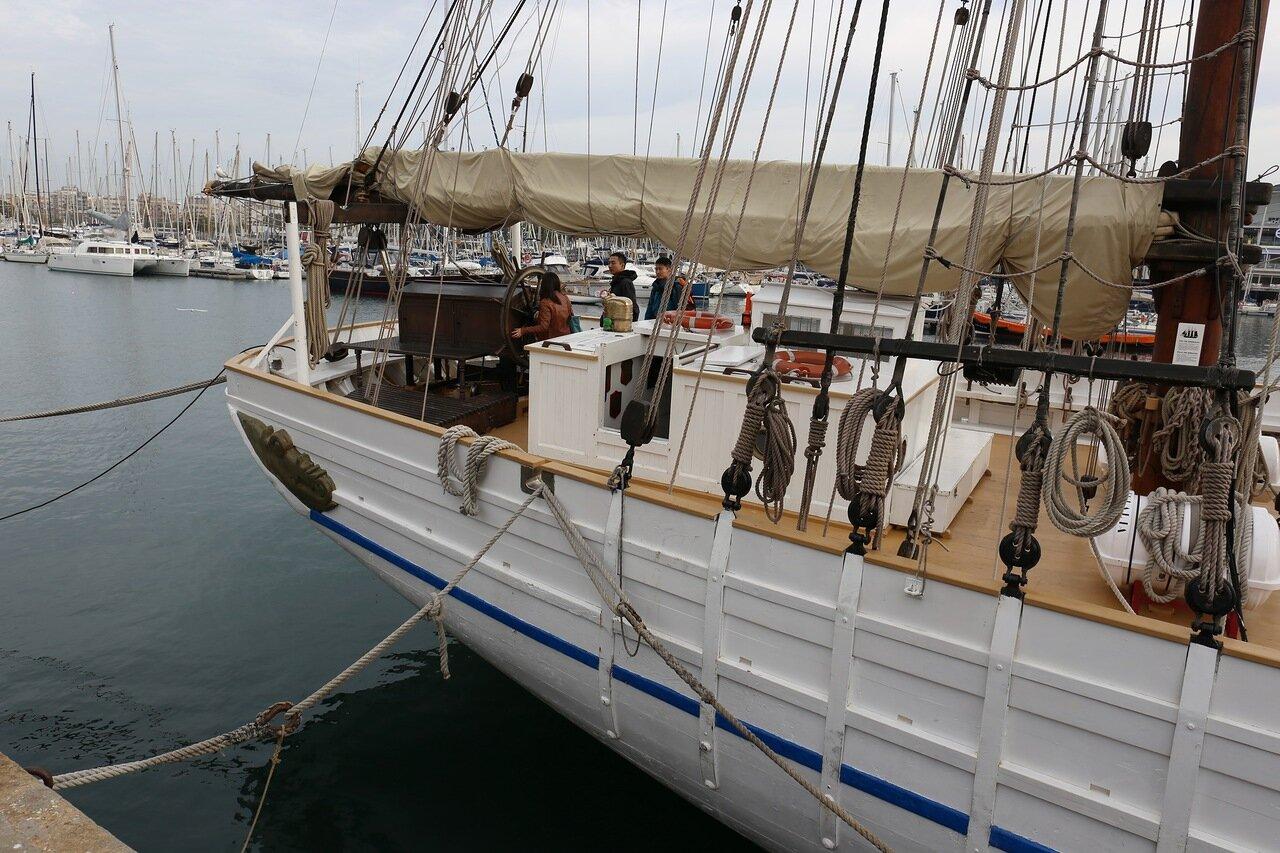 Barcelona. The schooner Santa Eulalia (St. Helena)