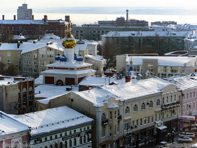 Зимний Ульяновск с высоты, зима 2018