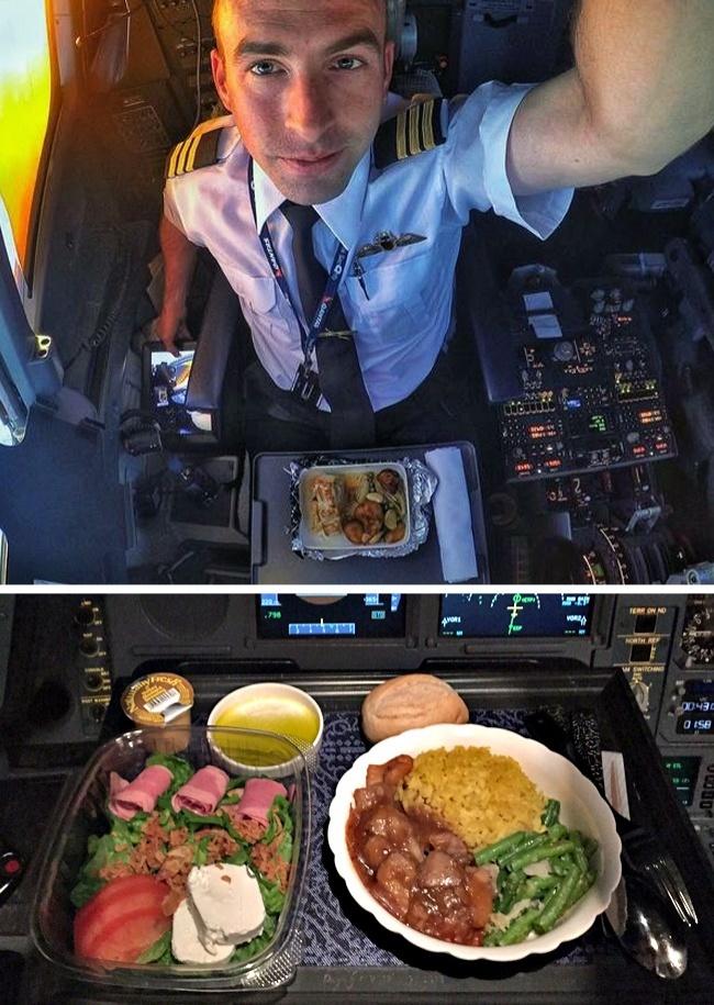 © blog.klm     Для пилотов готовят отдельное меню снесколькими блюдами навыбор :
