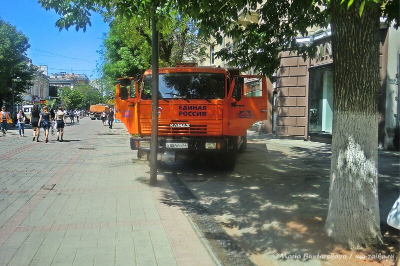Высадка деревьев, проспект Кирова, 16 мая 2013 года