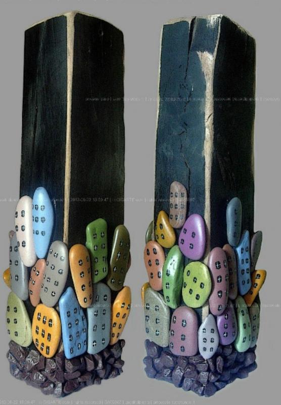 Картины из гальки Michela Bufalini