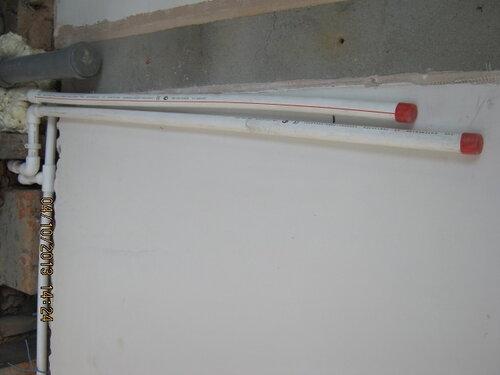 Водопровод и канализация для умывальника