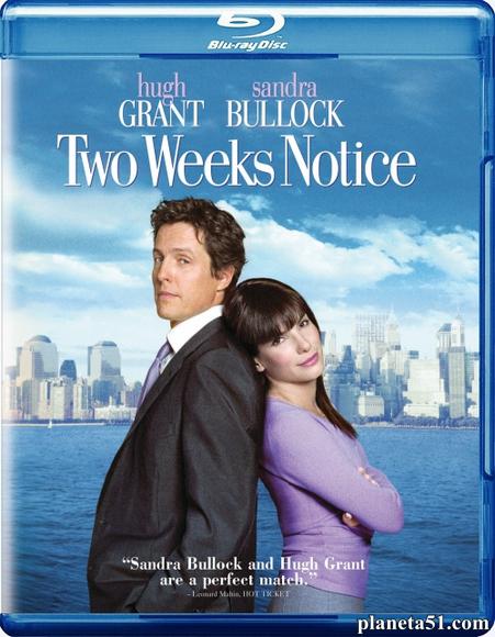 Любовь с уведомлением / Two Weeks Notice (2002/HDRip)