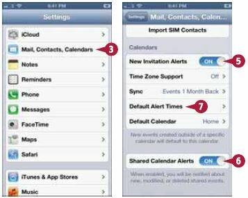 На экране настроек нажмите «Почта, адреса, календари» (Mail, Contacts, Calendars)