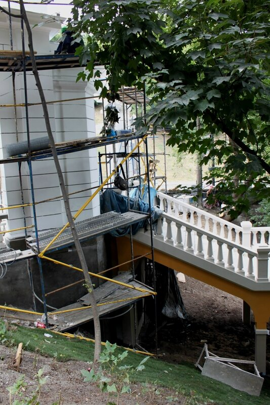 Реконструкция лестницы на Владимирском спуске