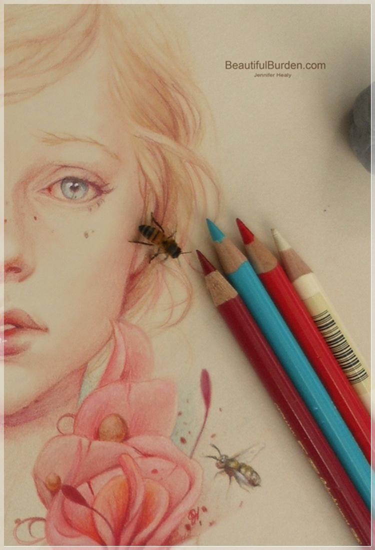 Рисуем цветными карандашами человека