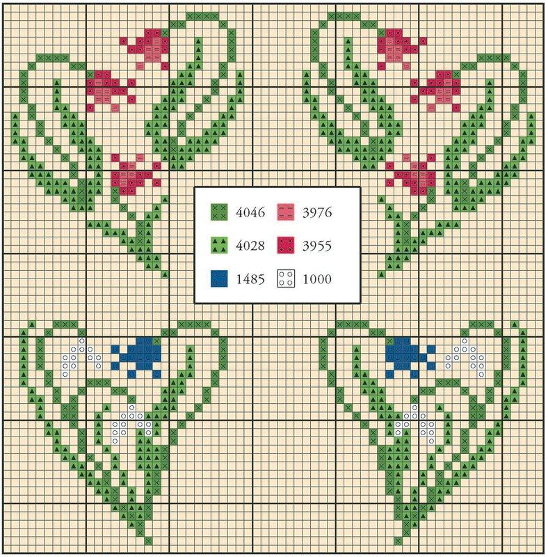 Вышивки сердца схемы 36