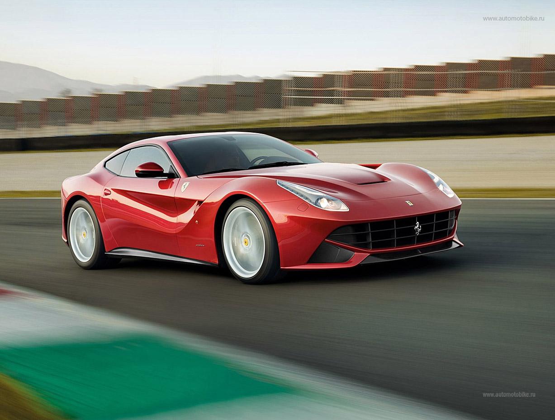 красный Ferrari F 12 Berlinetta