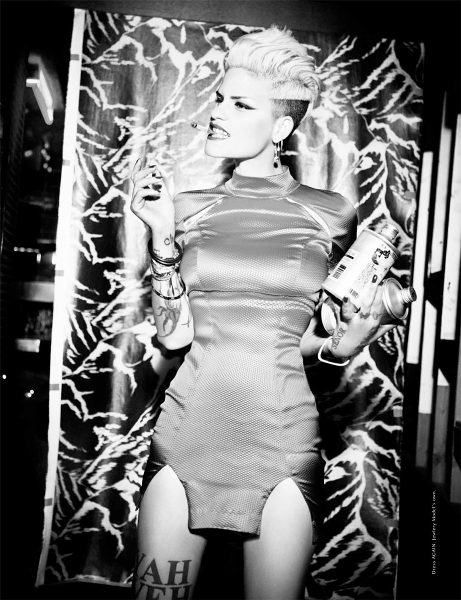 Omahyra Mota / Омахира Мота, фотограф Ellen von Unwerth - Galore Magazine fall/winter 2013