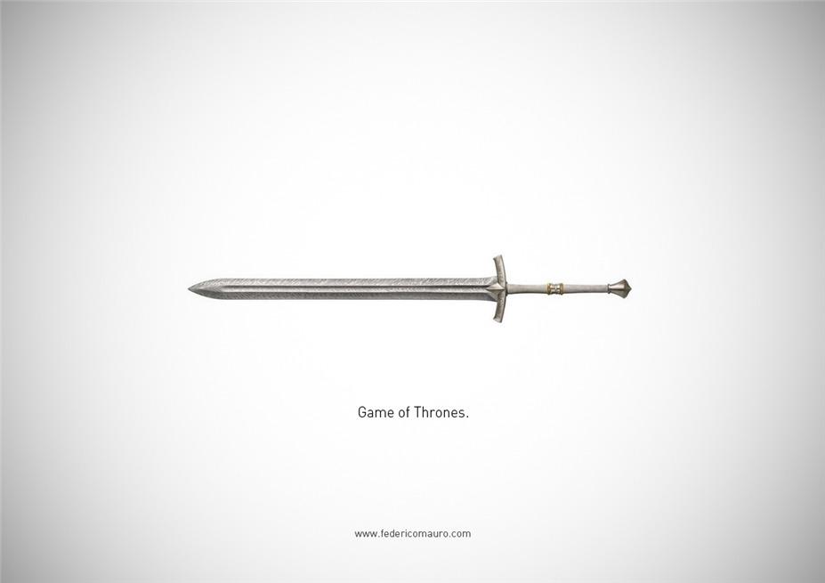 Знаменитые клинки, ножи и тесаки культовых персонажей / Famous Blades by Federico Mauro - Game of Thrones