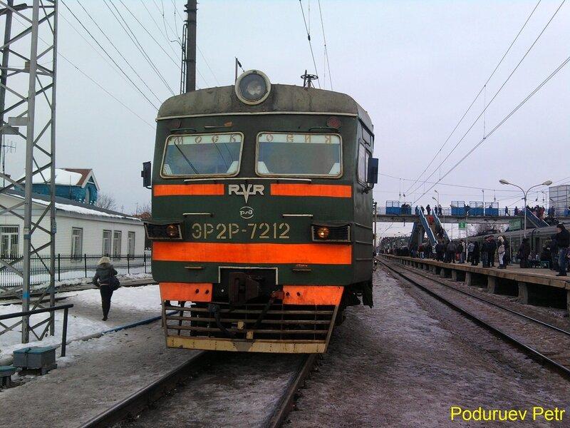 ЭР2Т-7212. Первый ЭР2Т за долгое время на Рижском ходу