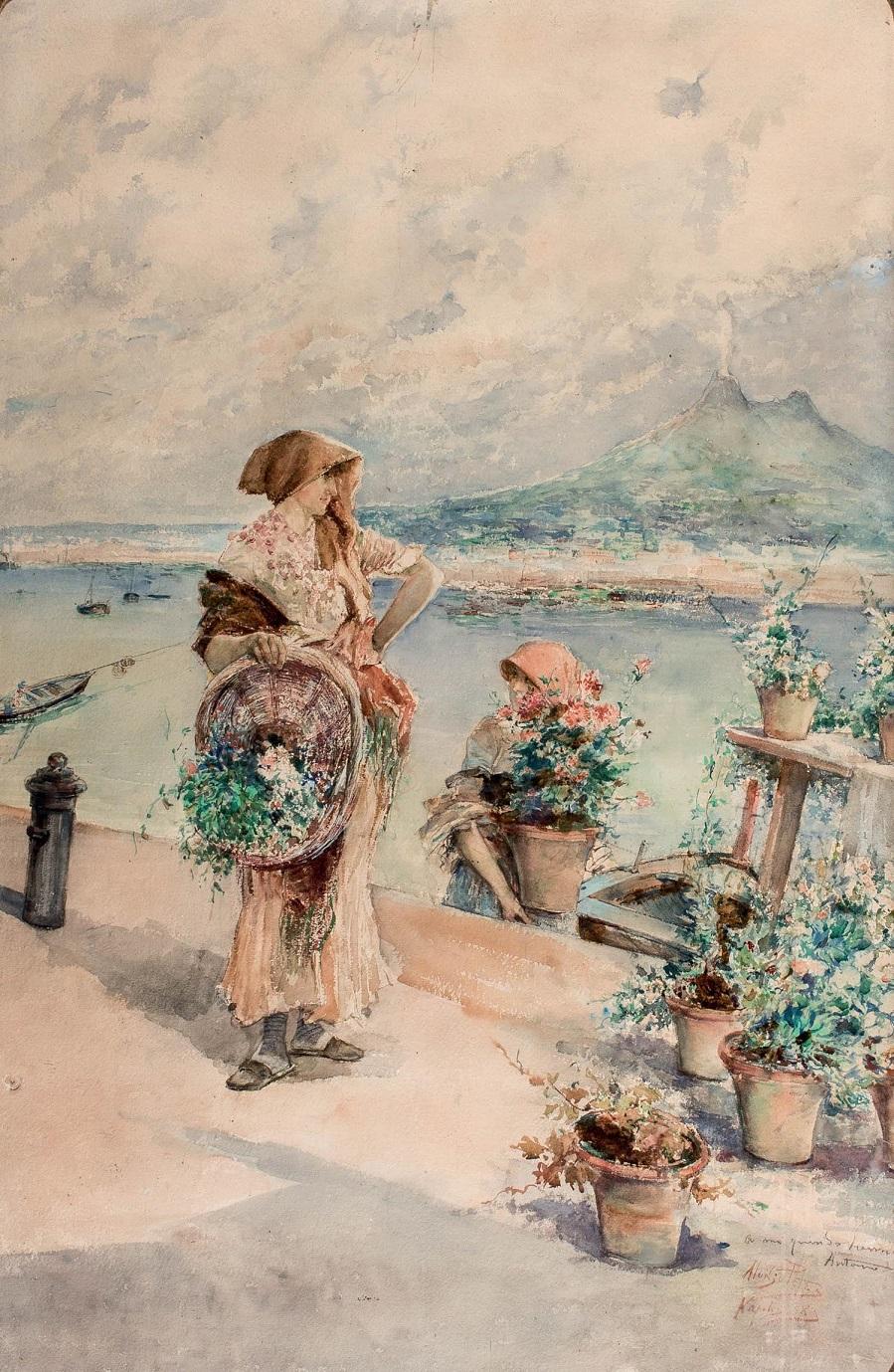 Floristas en el puerto, 1885