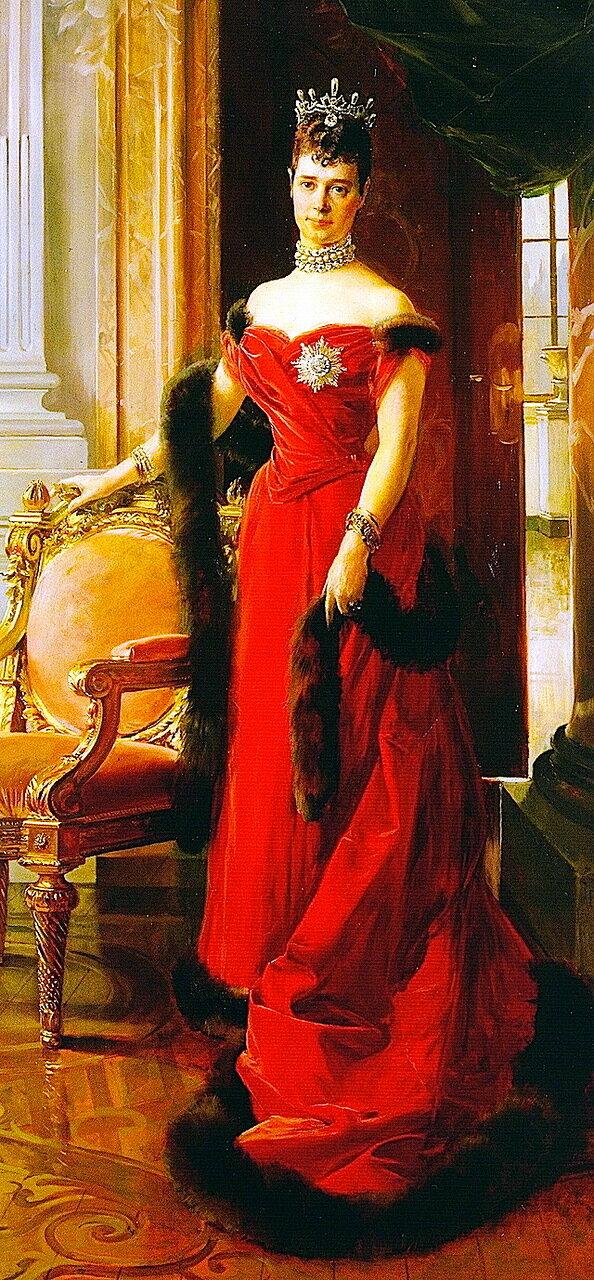 Франсуа Фламенг (1856 – 1923). Портрет императрицы Марии Федоровны