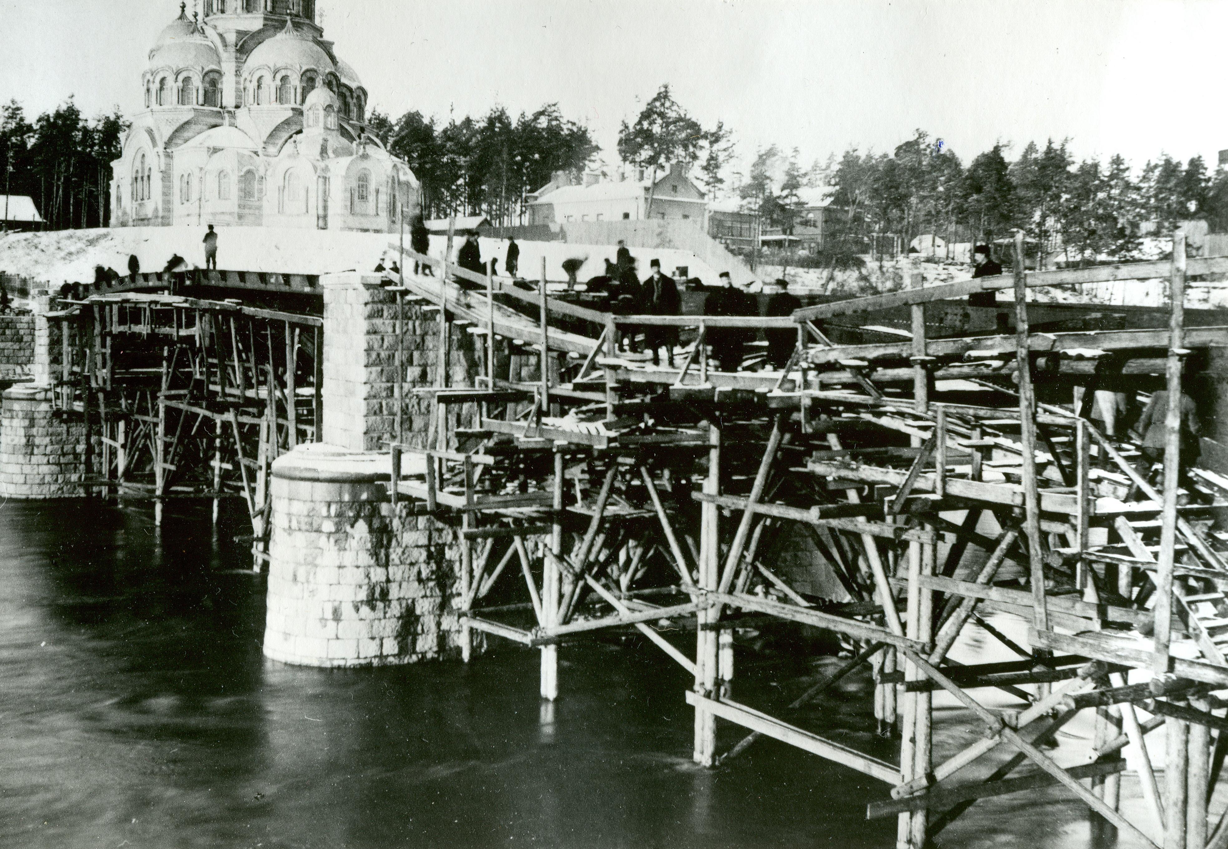 Строительство Жверинского моста 1905-1907 гг.