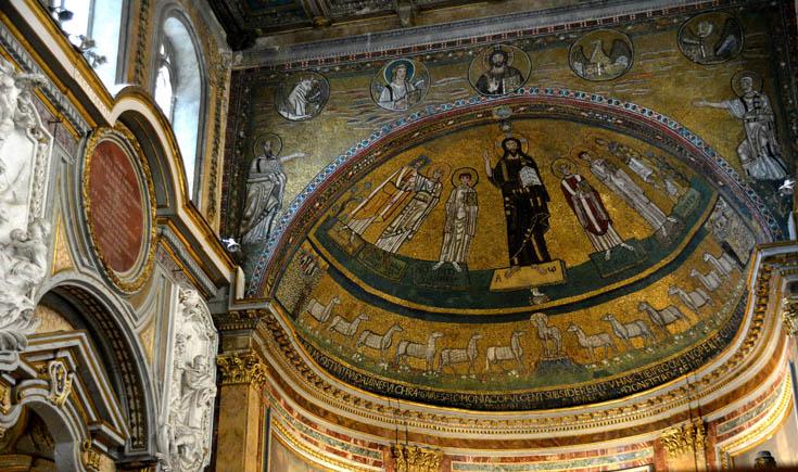 мозаики базилики Сан Марко в Риме
