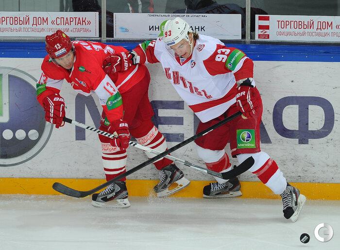 «Спартак» vs «Витязь» 3:2 ОТ чемпионат КХЛ 2013-2014 (Фото)