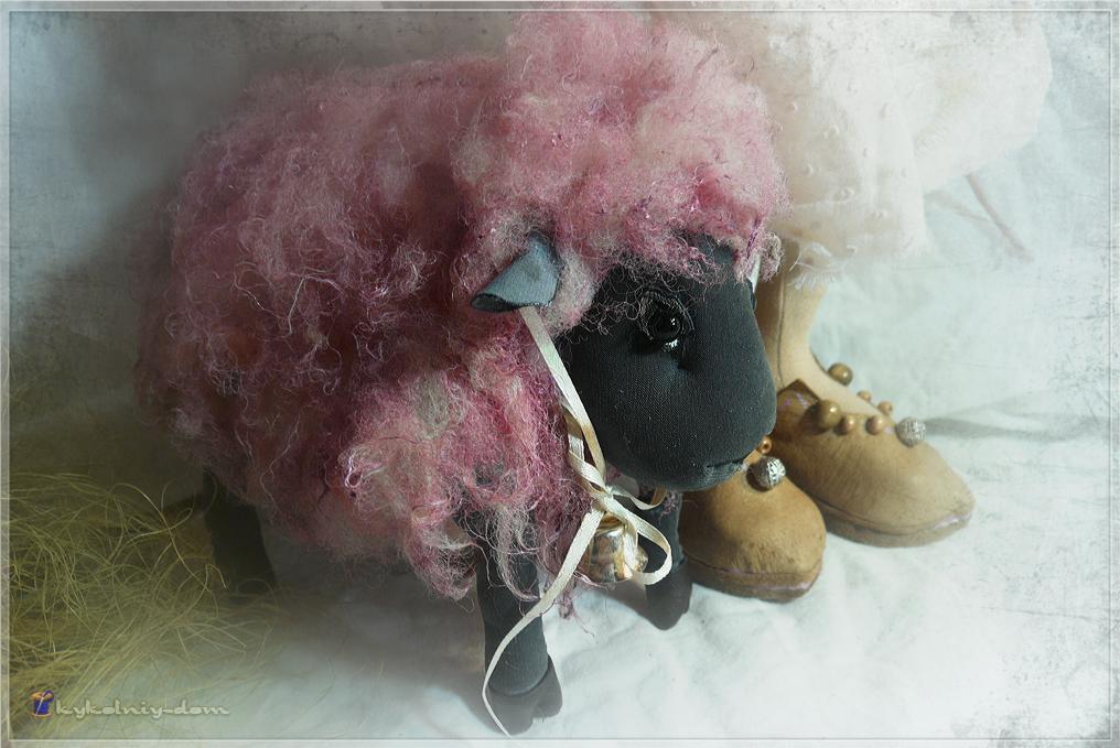 интерьерные текстильные куклы пастушка Katherine & овечка Posi