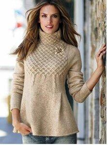 Плетеная трапеция - свитер от VS