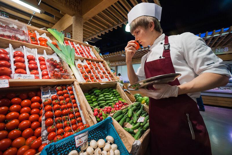 фермерский продукты на рынке