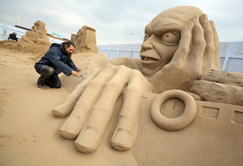 Уэстонский фестиваль песчаных скульптур 2013