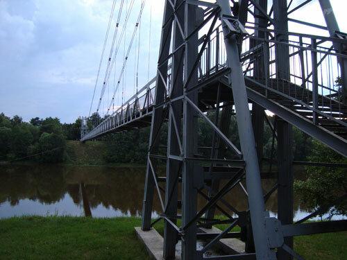 Отдых в Беларуссии: Мосты, пешеходный вантовый мост