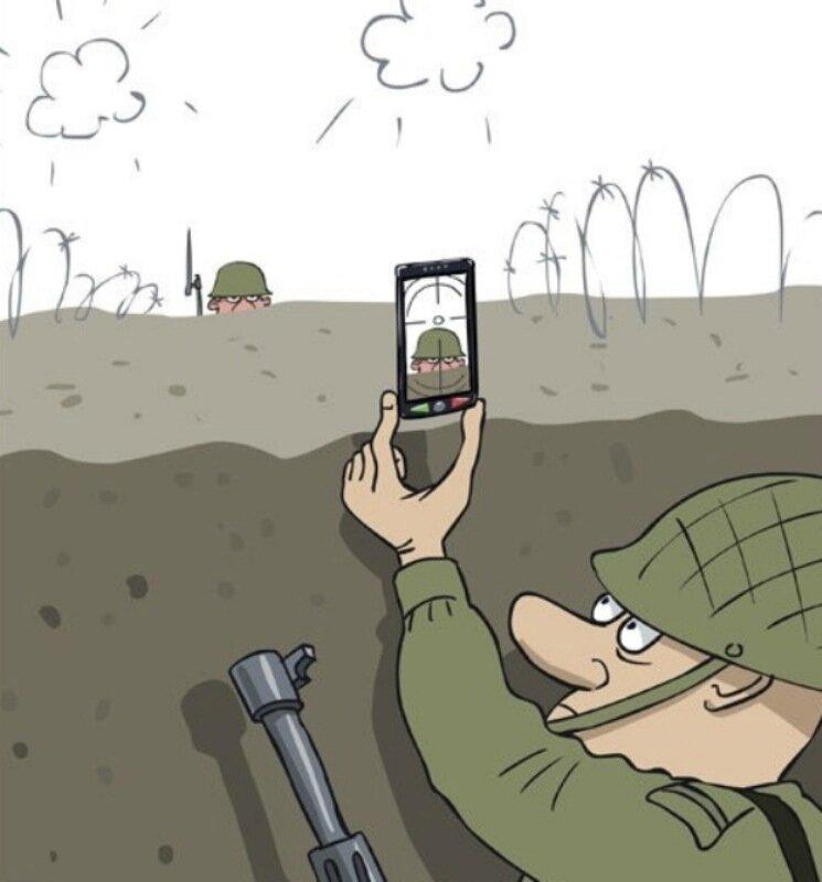 Смешной рисунок, приколы про военный в картинках