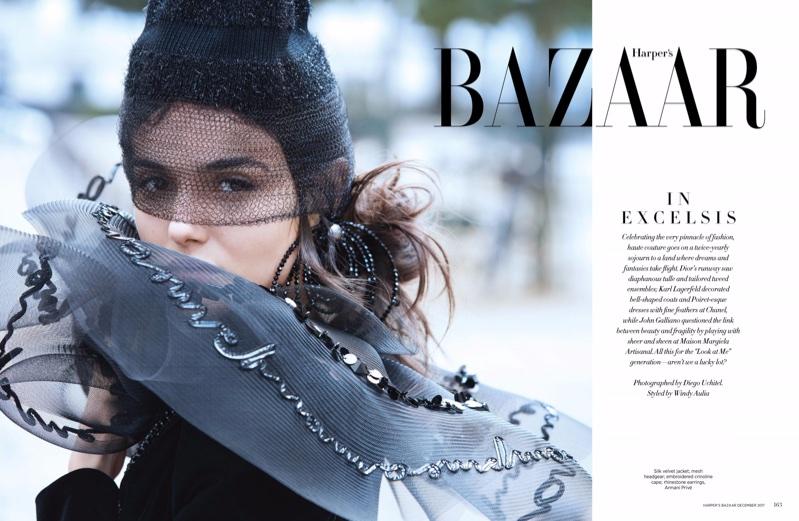 Бланка Падилья в сингапурском Harper's Bazaar (10 фото)