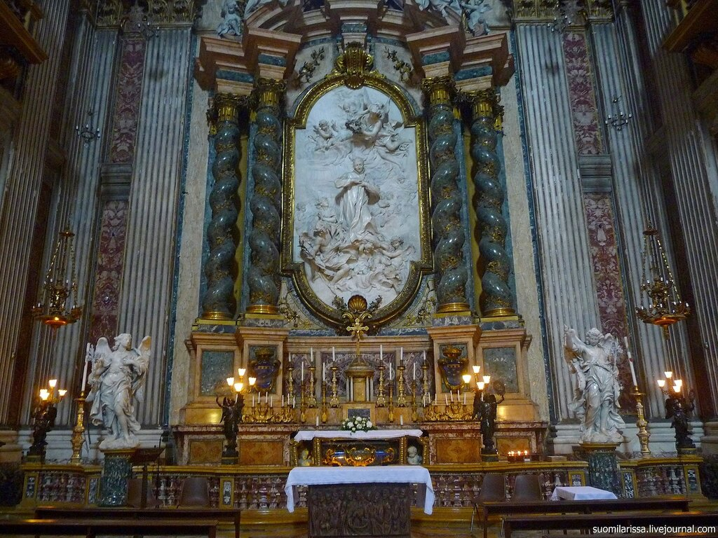 Roma. Барочная церковь ордена иезуитов - Sant'Ignazio di Loyola a Campo Marzio.