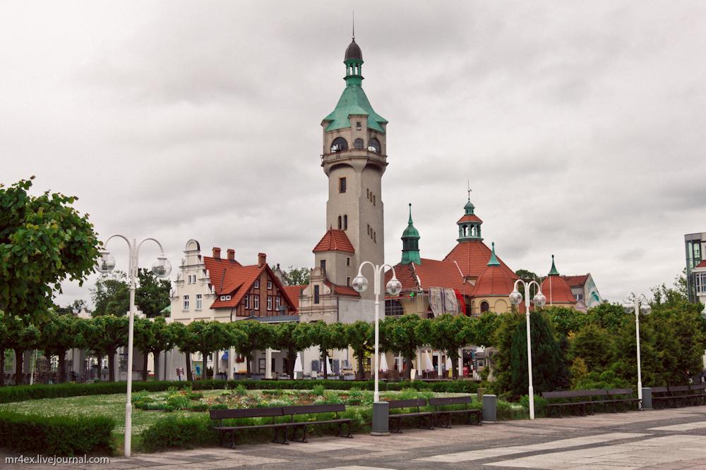Польша, Сопот, Польская Балтика, сопотский маяк, Skwer Kuracyjny