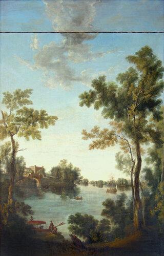 С.Ф. Щедрин. Белое озеро в Гатчине. Конец XVIII века.
