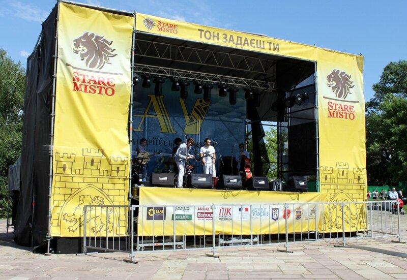Сцена музыкального фестиваля Андреевский спуск