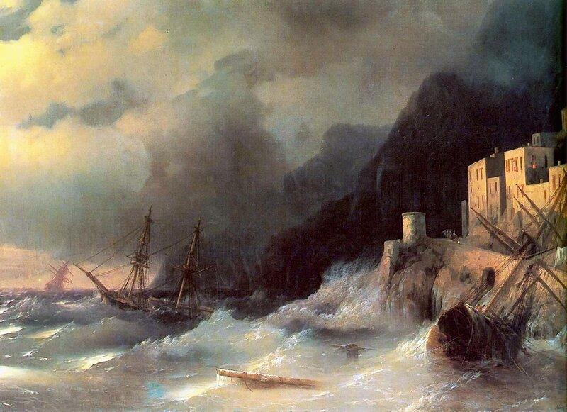 Буря, Айвазовский, живопись